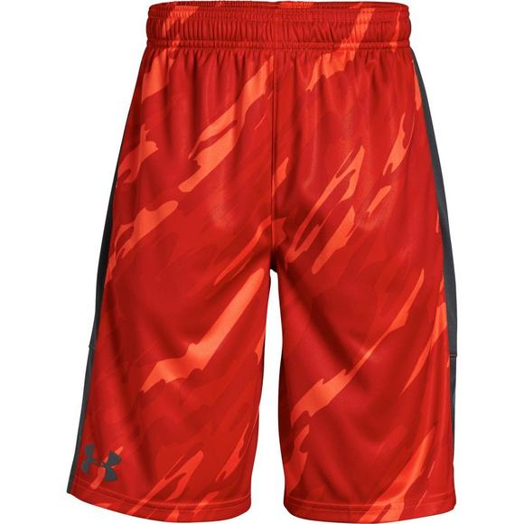2e15d4069 Under Armour Boys  Stunt Printed Shorts - Red Grey - Main Container Image 1