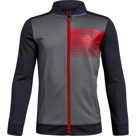 finest selection 0f2c3 2feef Under Armour Boys  Novelty Pennant Jacket - Grey Black Red - Main Container