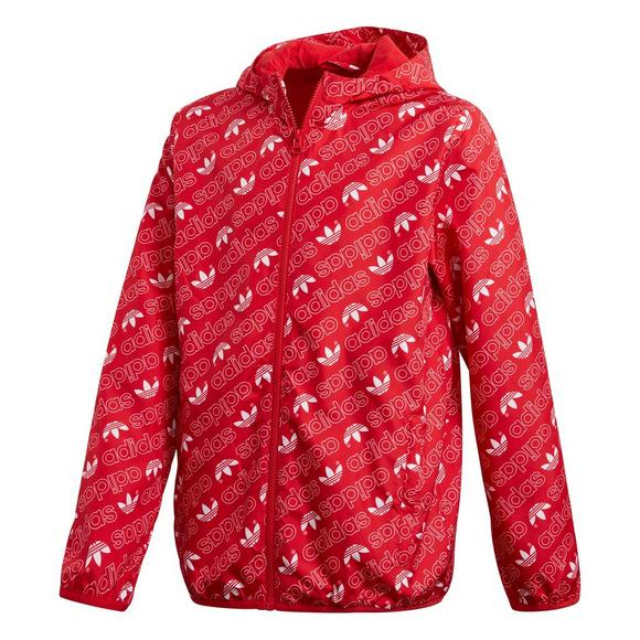 adidas Boys  AOP Trefoil Windbreaker-Red - Main Container Image 1 90a2cbc1584a