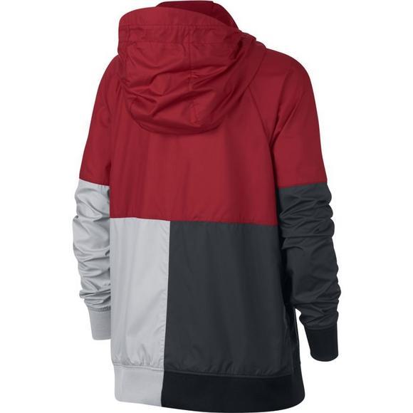 325c0643c10a Nike Boys  Sportswear Windrunner Full-Zip Hoodie - Red Black Grey ...