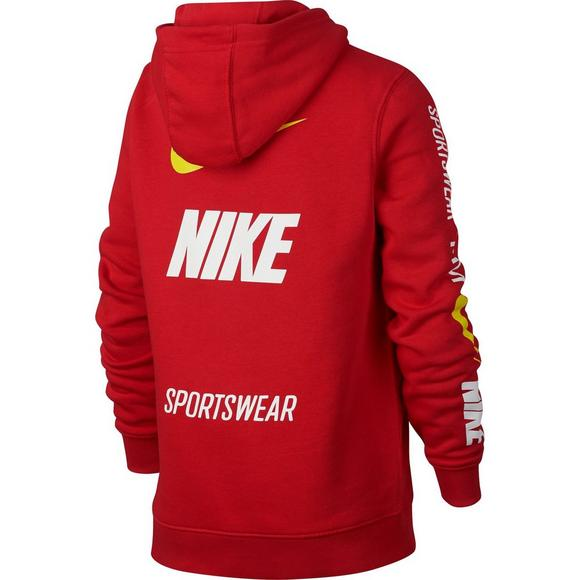 62d9cef80064 Nike Sportswear Boys  Club Red Fleece Pullover Hoodie - Main Container  Image 2