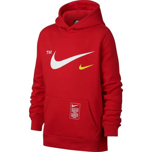 Nike Sportswear Boys  Club Red Fleece Pullover Hoodie - Main Container  Image 1 720a83c0b83b