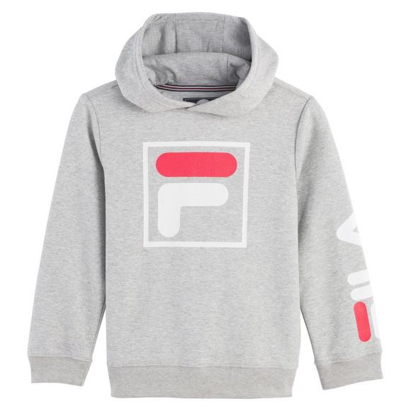 fe52d1d6dcfd Fila Youth F-Box Knit Interlock Grey Hoodie - Main Container Image 1
