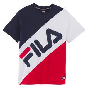 329c66dbe684 Fila Boy s Banner Striped Tee