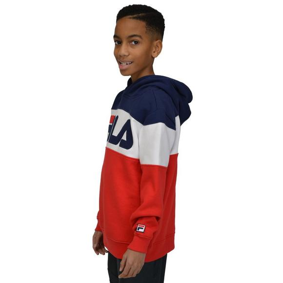bf1785a555fe FILA Boys  Heritage Colorblock Hoodie - Main Container Image 2
