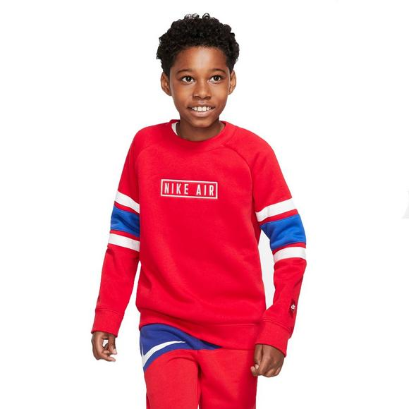 best wholesaler various colors authentic quality Nike Boys' Air Red Crew Sweatshirt