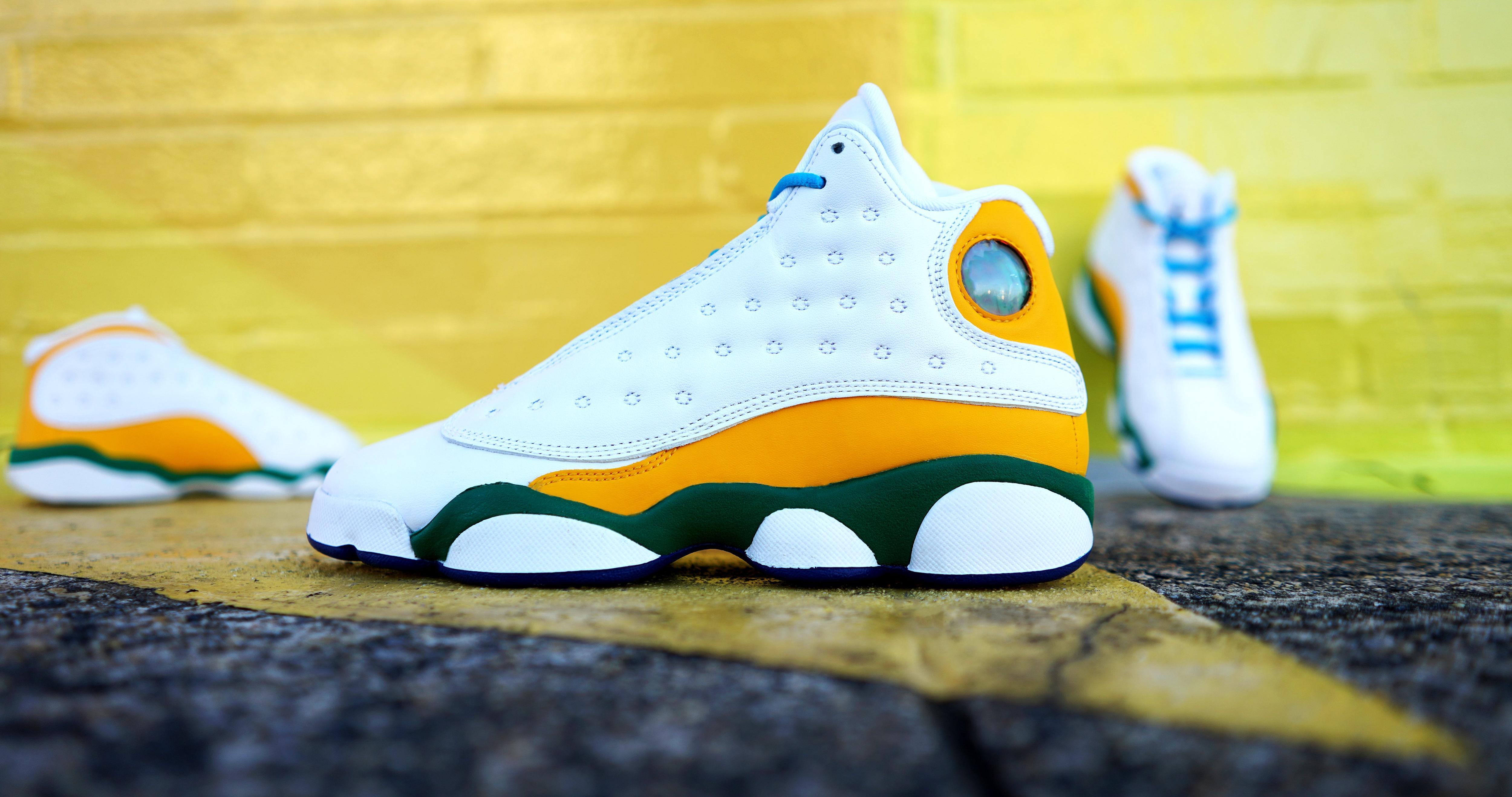 Sneakers Release Air Jordan Retro 13 Playground White Black