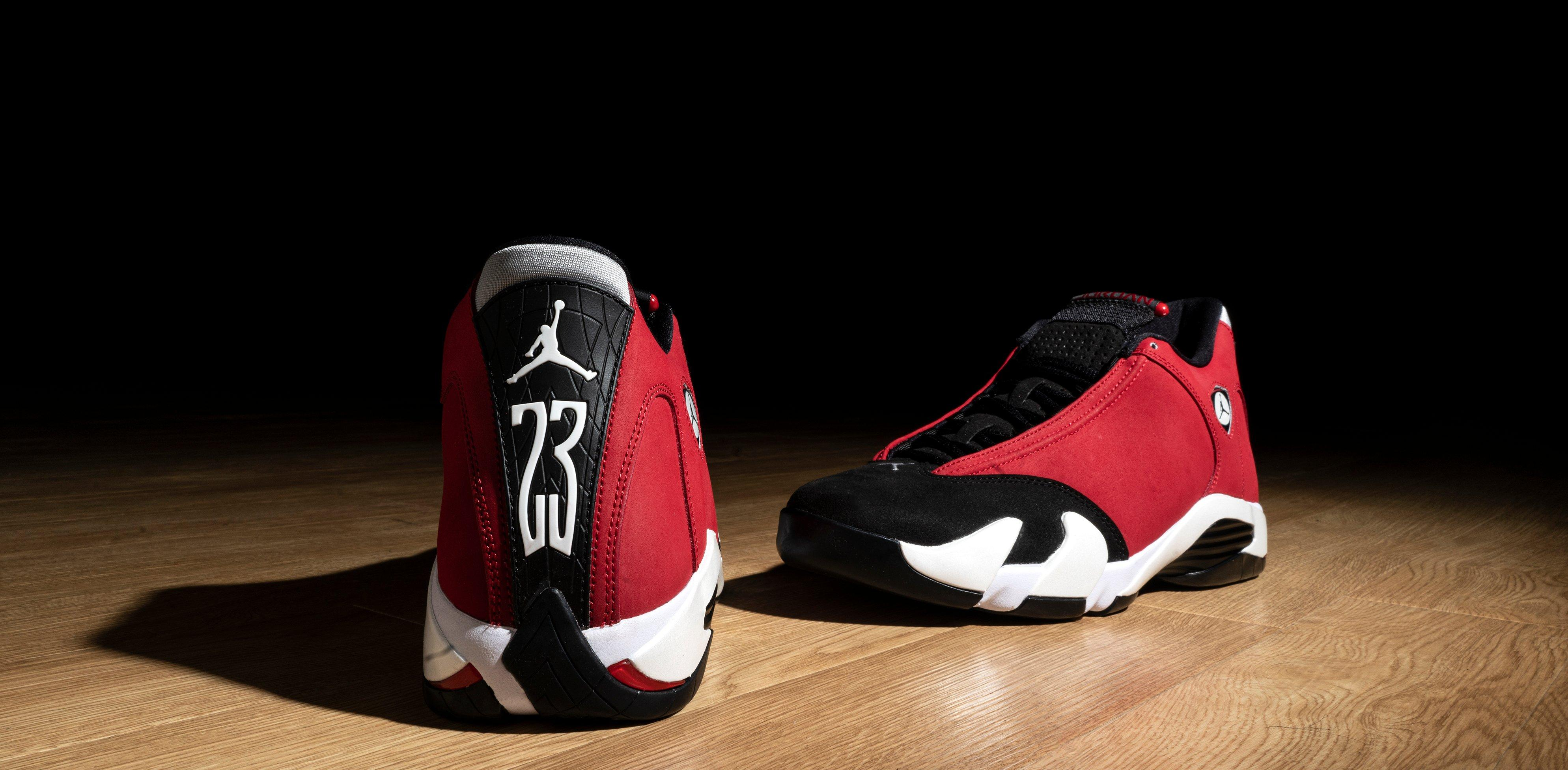 "Jordan 14 Retro ""Black/Gym Red/White"" Men's and Kids' Shoe"