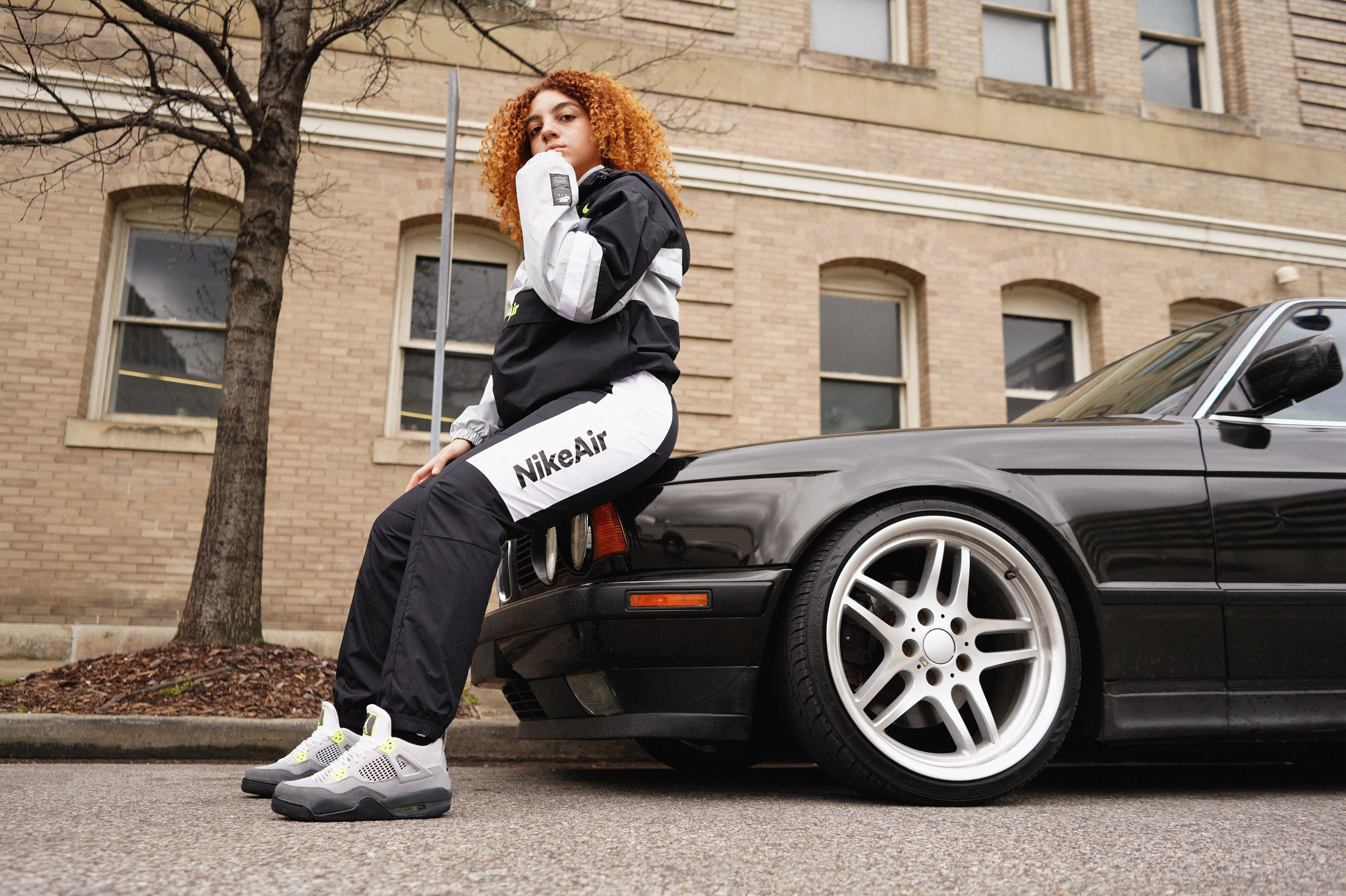 "Air Jordan 4 Retro ""Neon"" Cool Grey/Volt Men's and Kids' Sizes"