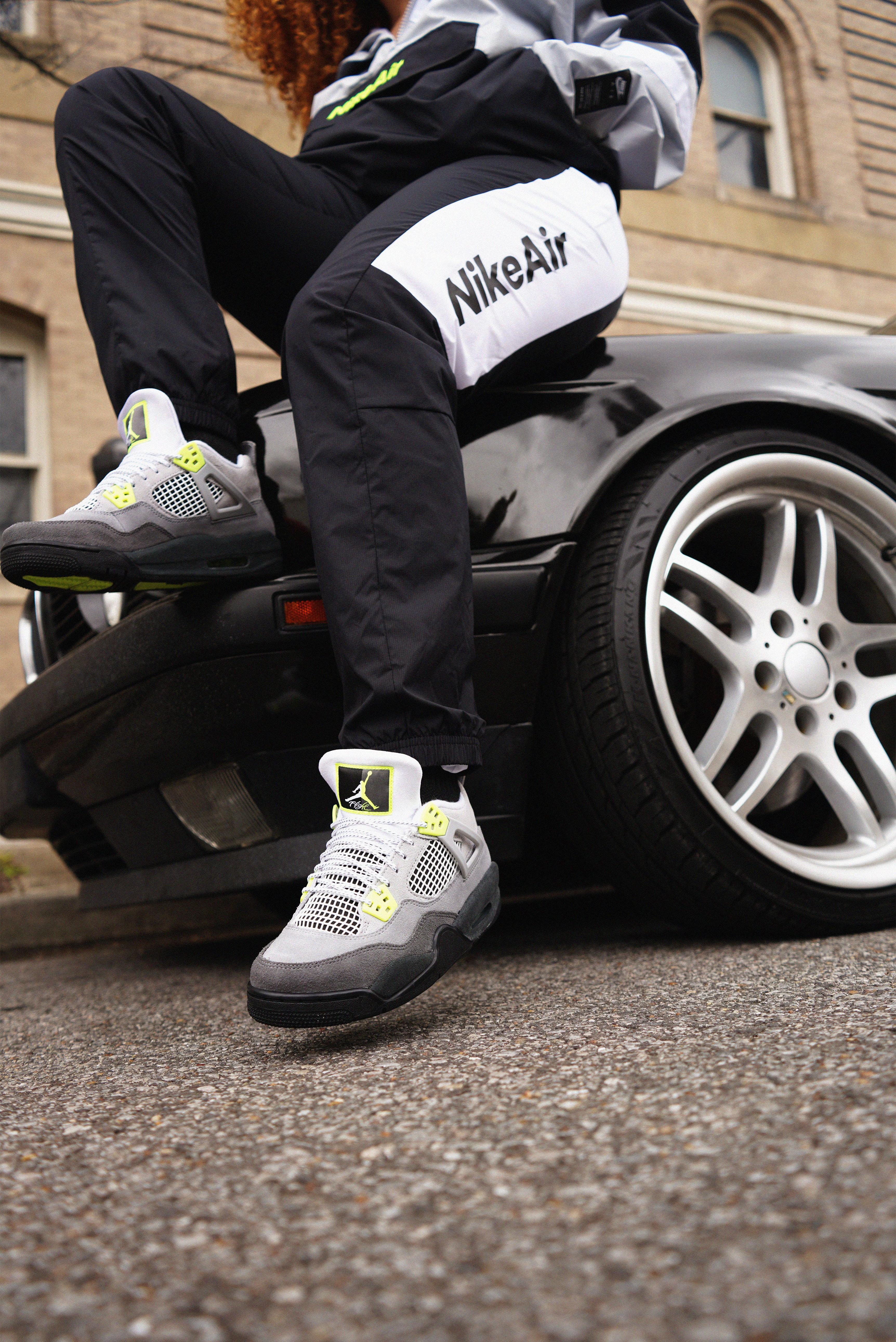 "Sneakers Release – Air Jordan 4 Retro ""Neon"" Cool Grey/Volt Men's ..."