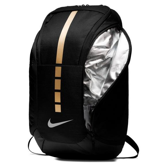 4d851791f1 Nike Hoops Elite Pro Basketball Finals Backpack - Black Gold - Main  Container Image 4