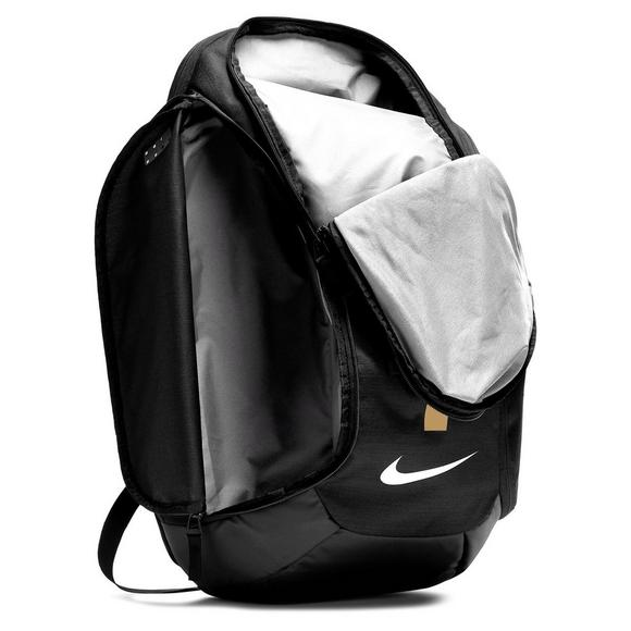 1491294681 Nike Hoops Elite Pro Basketball Finals Backpack - Black Gold - Main  Container Image 5