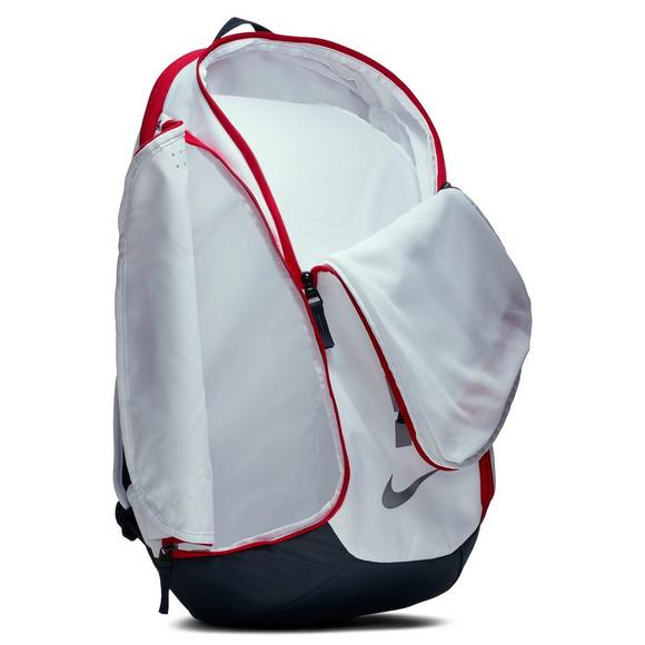 7de5fd0c9e65f9 Nike Hoops Elite Pro Basketball Backpack - White - Main Container Image 4