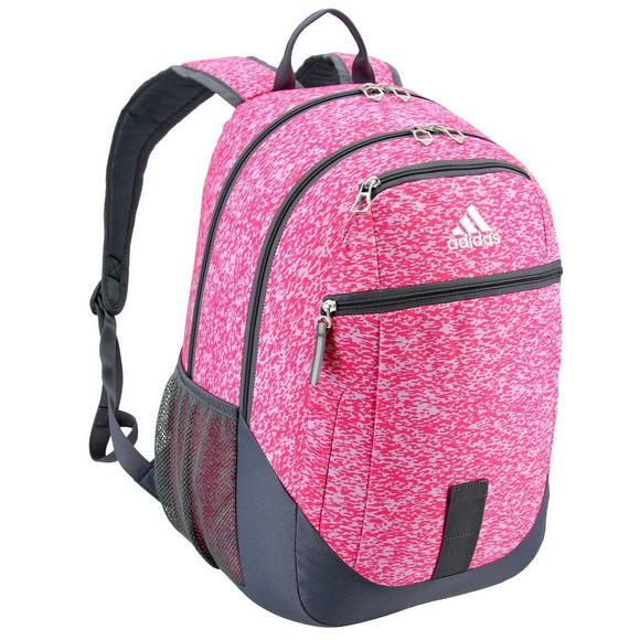 a11186fc56 adidas Foundation Pink Pixel Backpack - Hibbett US