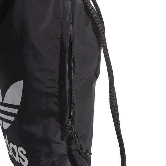 3877fff992 adidas Originals Trefoil Sackpack - Black - Main Container Image 5