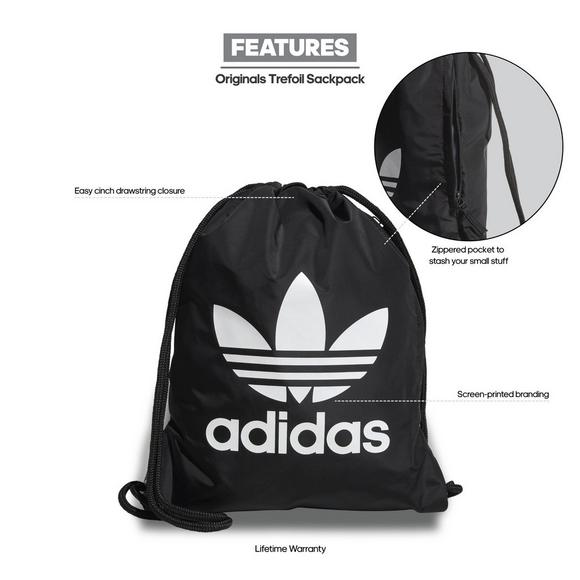 2c7e2567489a adidas Originals Trefoil Sackpack - Black - Main Container Image 8