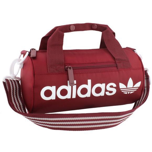 ee49f23ffb22 adidas Originals Santiago Mini Duffel Bag - Burgundy - Main Container Image  1