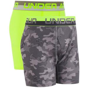7a2e8c010edc56 ... Under Armour Boys' 2-Pack Performance Boxer Brief - Grey/Yellow
