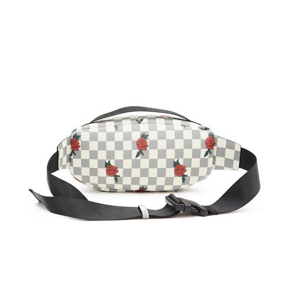 ffa4542fef43d Reason Brand Roses Checker Print White Waist Bag - Hibbett US