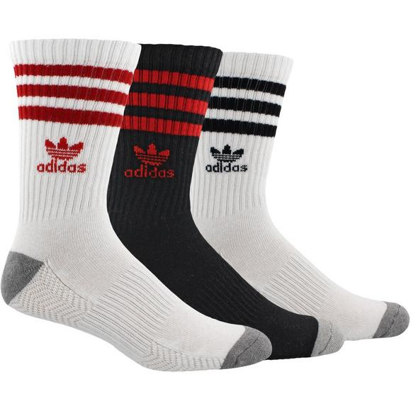 adidas Originals Roller Crew Socks- Black White Red - Main Container Image 1 56a23eab6