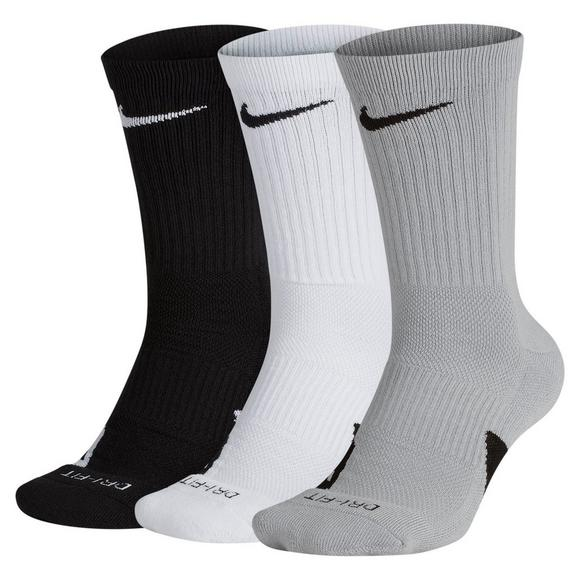 innovative design 2aaac cbbf2 Nike Unisex Elite Crew Basketball Socks - 3 Pairs - Main Container Image 1