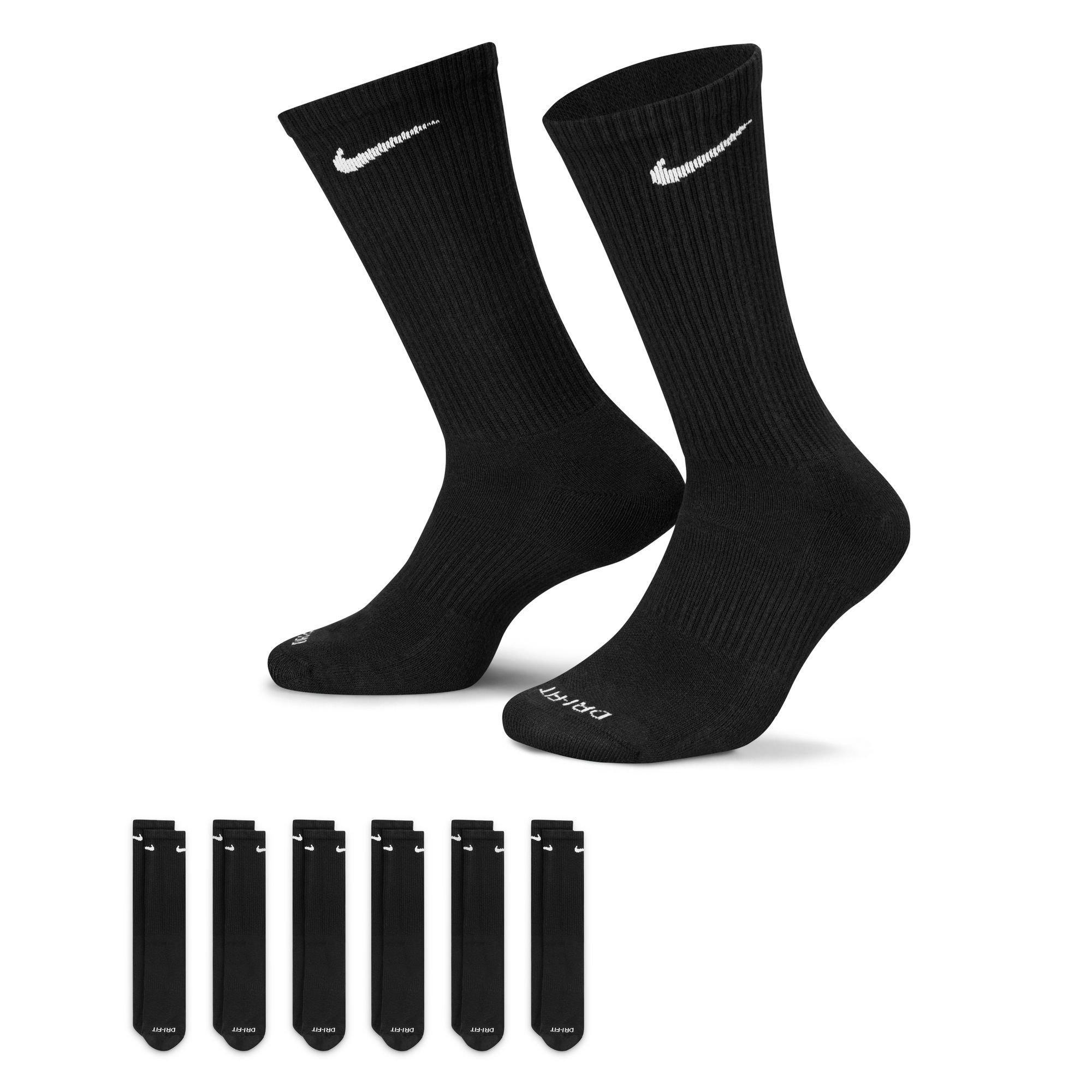 Nike Men's Everyday Plus Cushion Crew Training Socks - 6 Pairs
