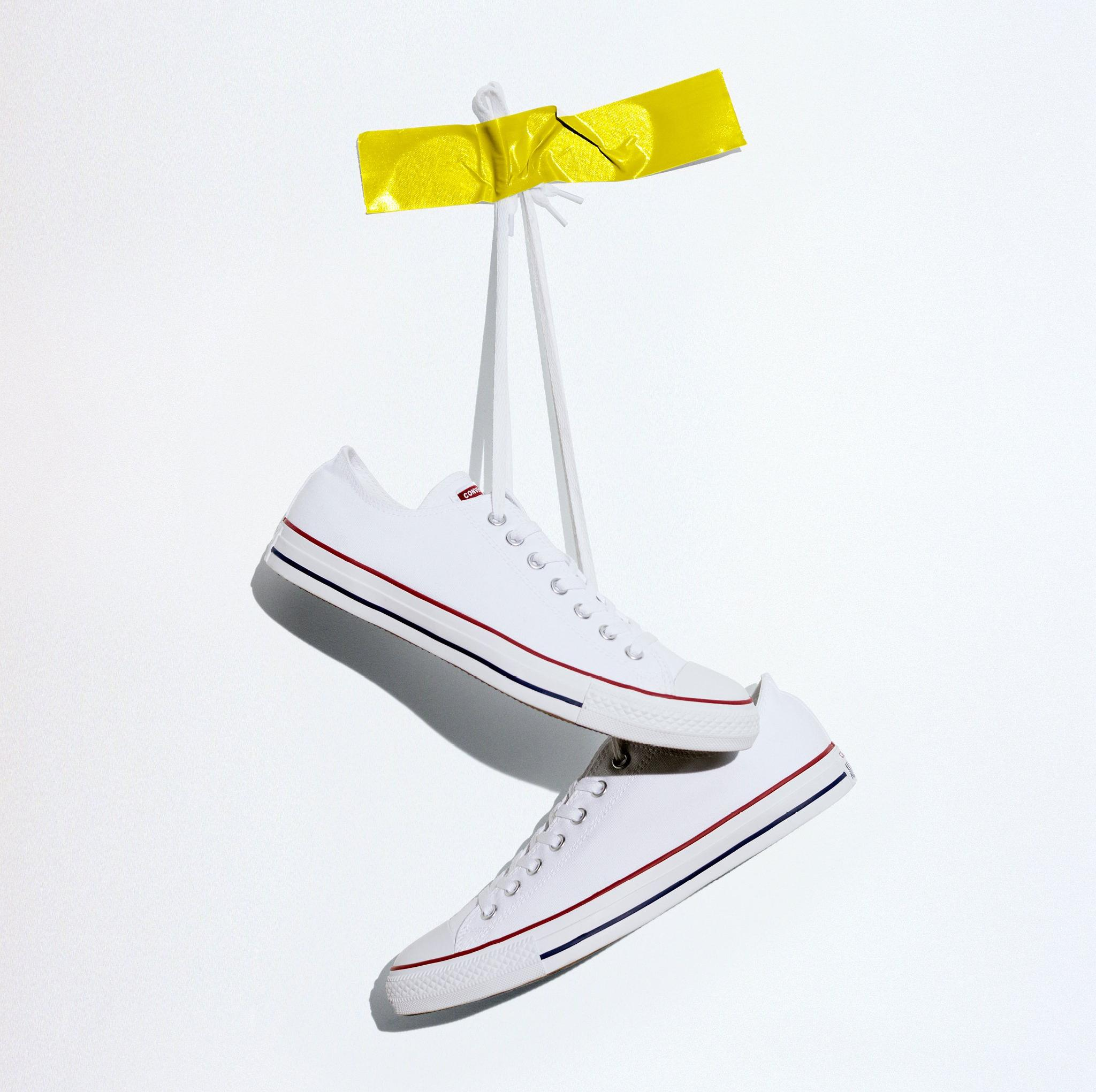 """Converse Chuck Taylor All-Star Low """"White"""" Grade School Kids' Casual Shoe"""