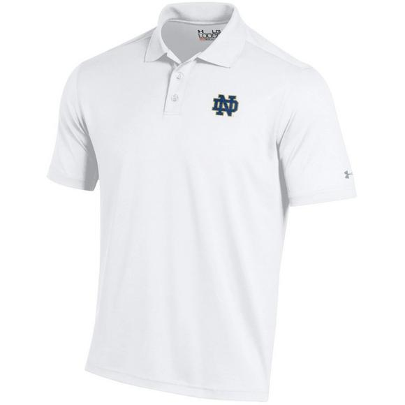 02f82d12cf Under Armour Notre Dame Fighting Irish Men's Performance Polo White ...