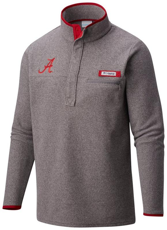 Columbia Men's Alabama Crimson Tide Harborside Fleece Pullover ...