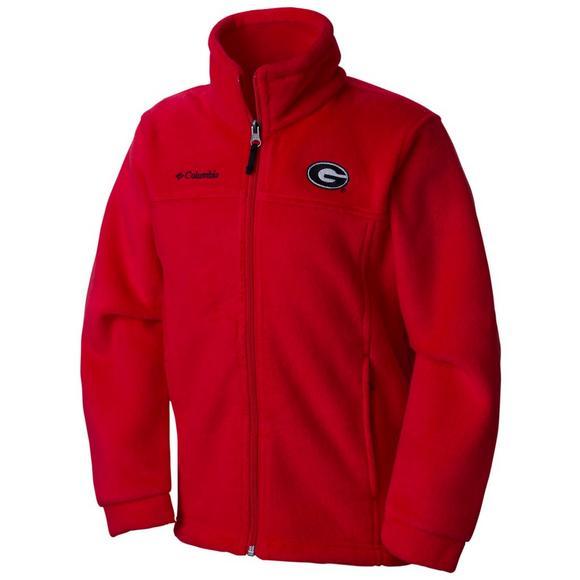 f9947021bac6 Columbia Youth Georgia Bulldogs Flanker Full-Zip Fleece Jacket ...