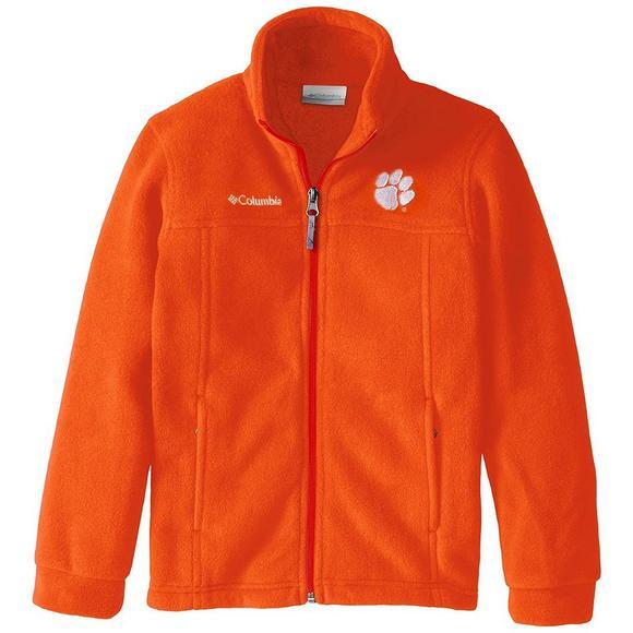 6003e09a7 Columbia Youth Clemson Tigers Flanker Full-Zip Fleece - Hibbett US