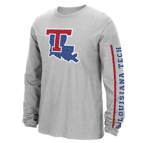 size 40 c0ef2 d7078 adidas Men's Louisiana Tech Bulldogs Sleeve Play Long Sleeve ...