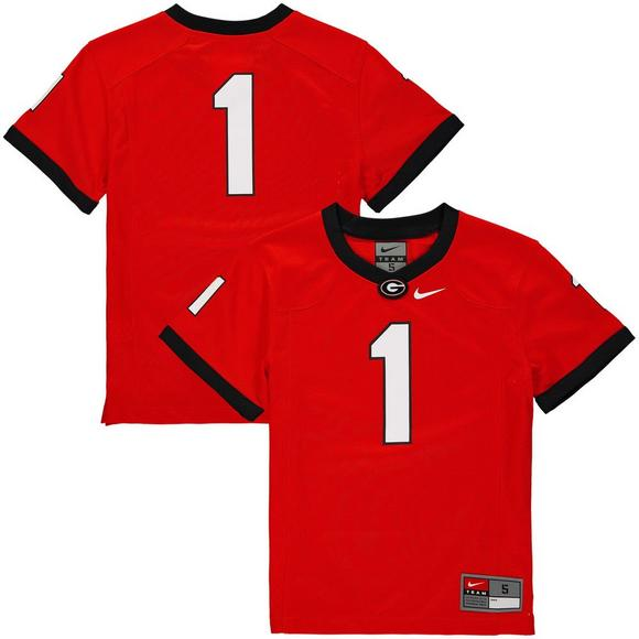 reputable site 2b573 a2516 Nike Youth #34 Georgia Bulldogs Replica Football Jersey