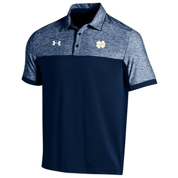 the best attitude eb16d 5f25b Under Armour Men's Notre Dame Coaches Podium Polo Shirt ...