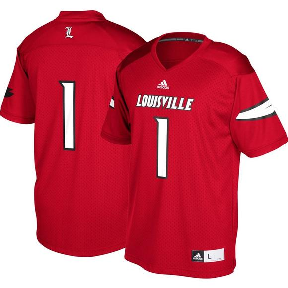 adidas Men s Louisville Cardinals  1 Replica Football Jersey - Main  Container Image 1 9627ee1ae