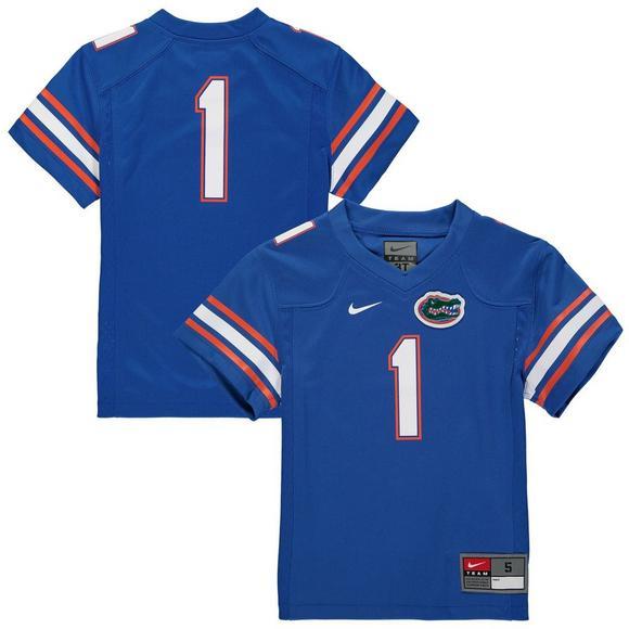 quality design 9d6a0 21bce Nike Youth #1 Florida Gators Replica Football Jersey ...