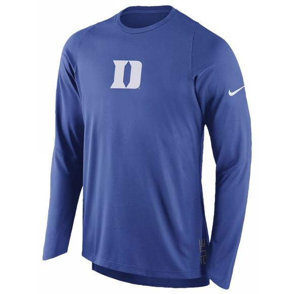 9240431a Nike Men's Duke University Dri-FIT On Court Shooting Shirt - Main Container  Image 1