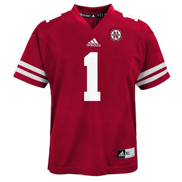 quality design 16455 f400a adidas Youth Nebraska Cornhuskers Jersey #1 - Red - Hibbett ...