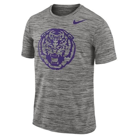 huge selection of 3ebaa b7c00 Nike Men's LSU Tigers Dri-Fit Travel T-Shirt - Hibbett ...