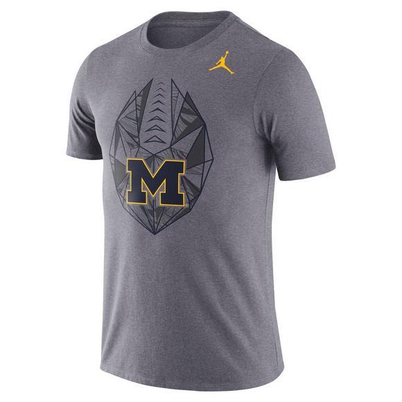 Michigan Jordan Gear >> Jordan Men S Michigan Wolverines Football Icon Crew T Shirt