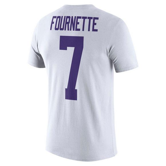 new concept 490ce 60846 Nike Men s LSU Tigers L. Fournette Name   Number Crew T-Shirt - Main