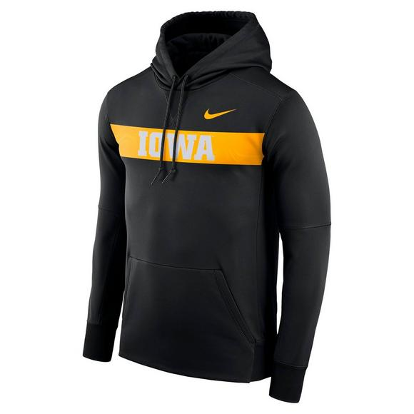 more photos bb24e b7907 Nike Men s Iowa Hawkeyes Therma-Fit Fleece Hoodie - Main Container Image 1