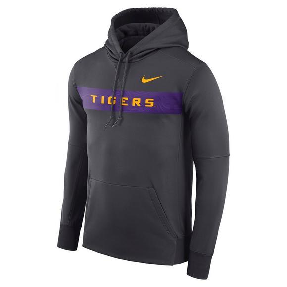 cheaper 01f31 5ab78 Nike Men's LSU Tigers Therma Hoodie Fleece - Hibbett   City Gear