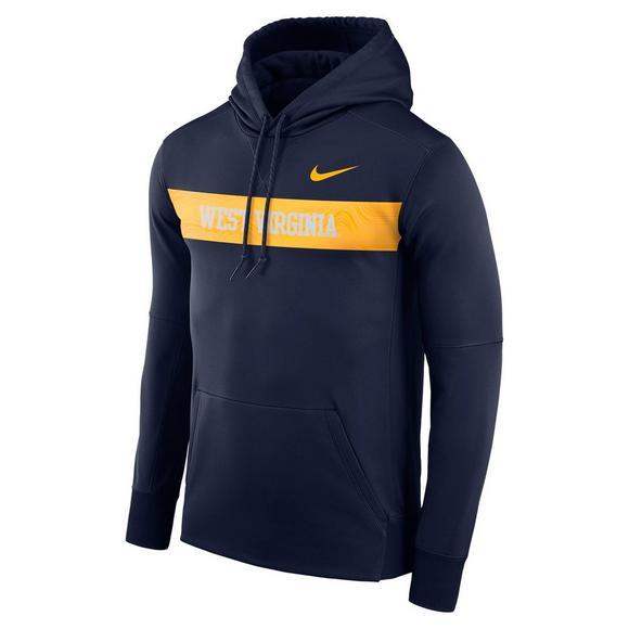 f9e13af1a10 Nike Men's West Virginia Mountaineers Therma Hoodie Fleece