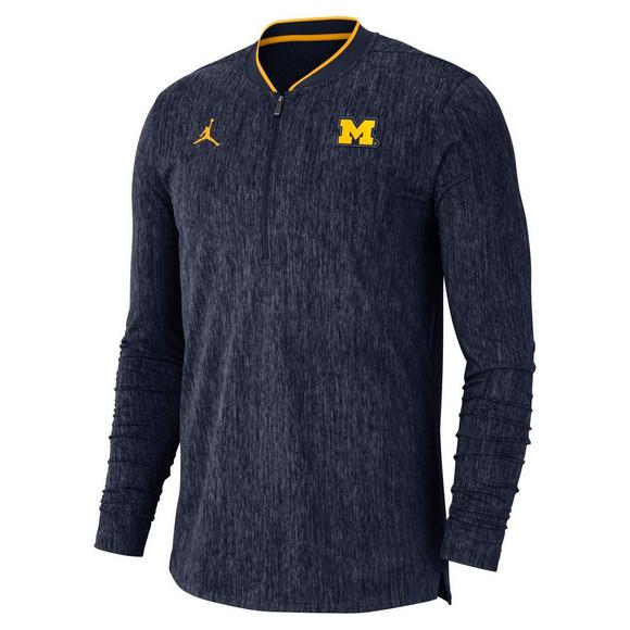 Michigan Jordan Gear >> Jordan Men S Michigan Wolverines Coaches Half Zip Jacket