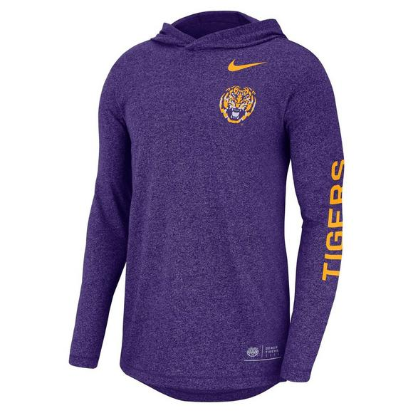28d9bb6d6 Nike Men's LSU Tigers Marled Hooded Long Sleeve T-Shirt - Main Container  Image 1