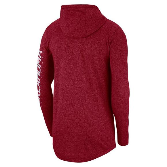 2e89d8d93f4 Nike Men's Oklahoma Sooners Marled Long-Sleeve Hooded T-Shirt - Main  Container Image