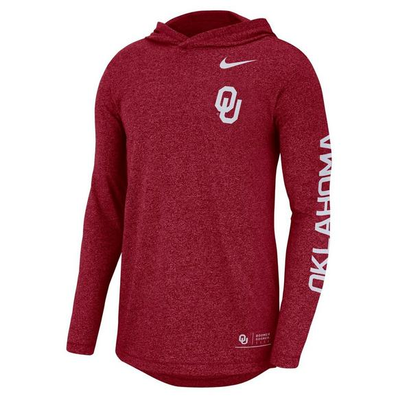 4c264871ab8a Nike Men s Oklahoma Sooners Marled Long-Sleeve Hooded T-Shirt - Main  Container Image