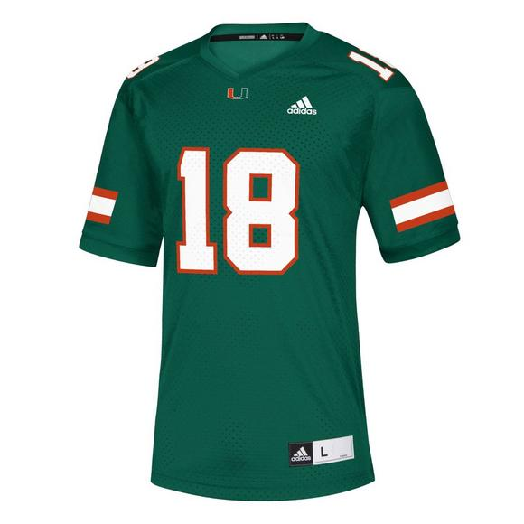 best authentic 28403 d38cb adidas Men's Miami Hurricanes NCAA Replica Jersey - Hibbett US