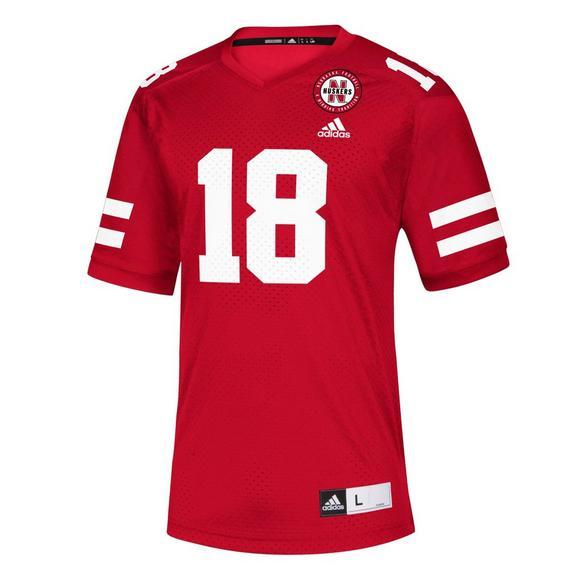 premium selection 70b81 24316 adidas Men's Nebraska Cornhuskers NCAA Replica Jersey
